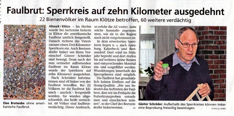 Altmarkzeitung vom 15.1.19
