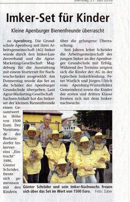 21.6.2016 Altmarkzeitung