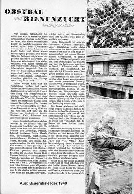 Bauernkalender 1949