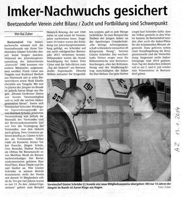 14.1.2014 Altmarkzeitung