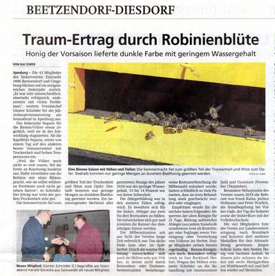Altmarkzeitung vom 14.1.2019