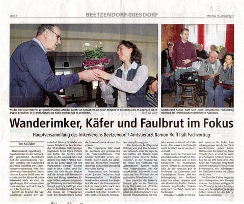 16.1.2017 Altmarkzeitung