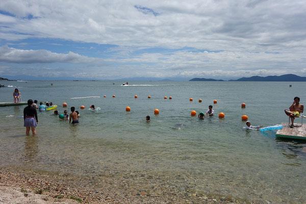 今年も琵琶湖の水は透明感