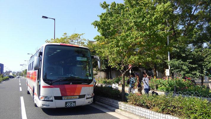 今年も西成児童館のバスでしゅっぱ~つ!