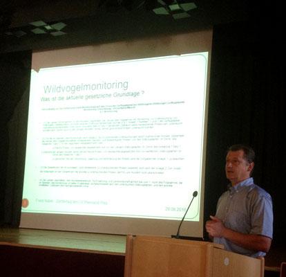 Franz Nuber hielt ein Referat über die Wildvogel-Geflügelpest-Monotoring-Verordnung