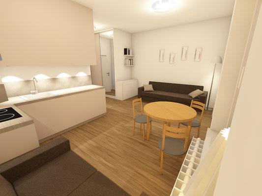 Apartment Harmonic Aparts, Bad Altheide - Visualisierung