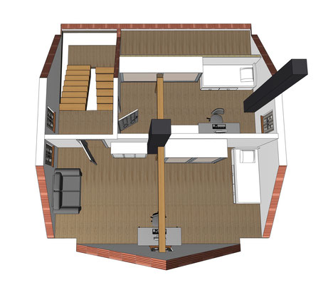 Grundriss 3D Dachgeschoss, Haus