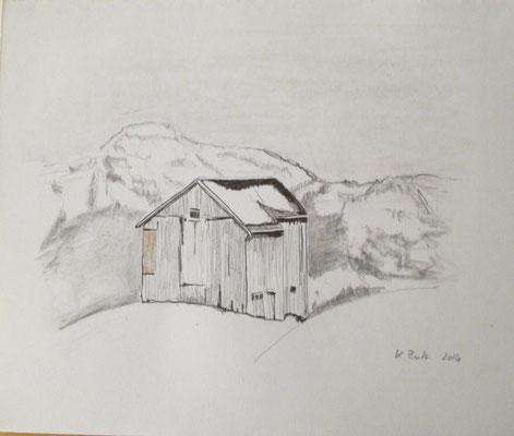 Stall, 2016, Bleistift, 20x20