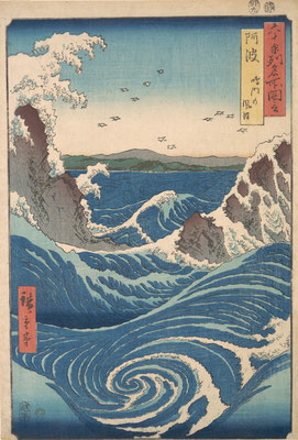 Woodblock by Hiroshige 1853 - 56