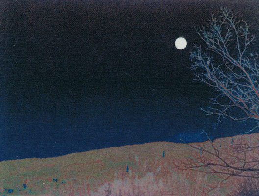Solarized photo of full moon in Japan by Noriko Kimura