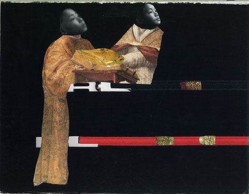 Collages by Eron Boyd entitled 'The Book of Pisces'
