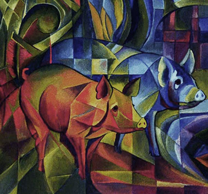 Pigs by Fran Marc 1913