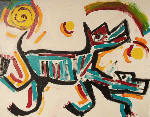 Painting by Floyd Kuptana
