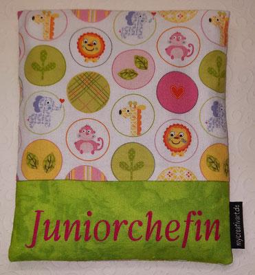 Kreise rosa-grün mit grünem Schrift-Hintergrund, geplottet