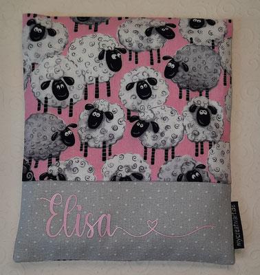 Schafe rosa, geplottet mit glatter statt samtiger Folie