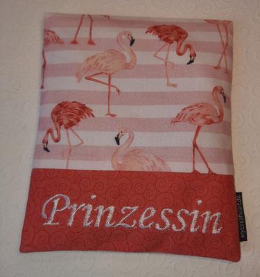 Flamingos gestreift, nicht mehr in diesen Farben da, sondern mit Streifen in mint-weiß statt rosa-weiß (oder andere Flamingostoffe)