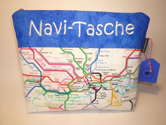 """Navi-Tasche mit """"U-Bahn-Netz"""""""