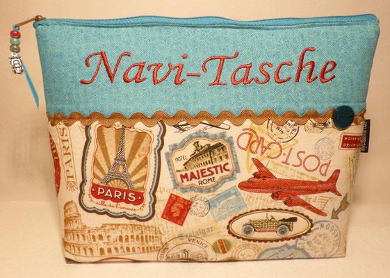 Tasche fürs Navi, damit alles griffbereit beisammen ist...