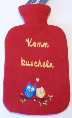 Flauschiger, bestickter Fleece-Bezug inklusive Wärmflasche (Stickdatei by MariLena - Stoffzaubereien)