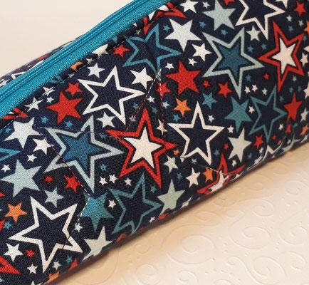 Sterne ...und mit Farbverlaufsgarn im Stoff gequiltet...