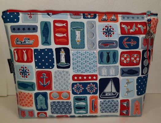 """Tasche """"maritime Collage"""" von der Rückseite"""
