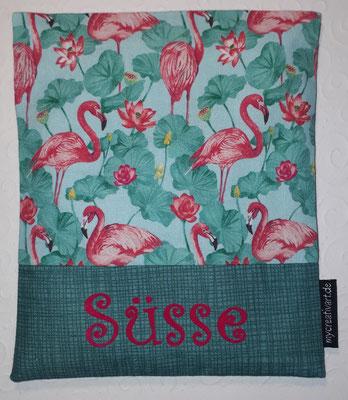 Flamingos mit Blättern, geplottet