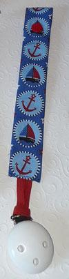 """Anker + Segelboot blau-rot"""