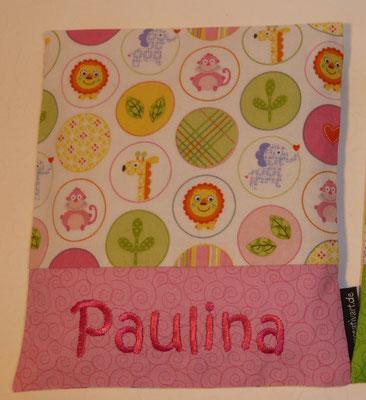 Kreise rosa-grün mit rosa Schrift-Hintergrund