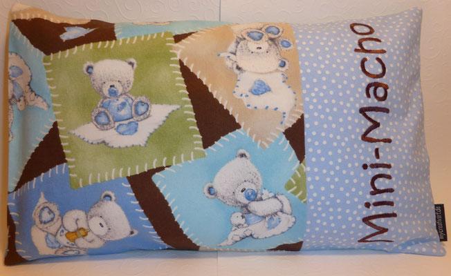 Kissen mit Flauschfüllung, zur Geburt, Taufe oder einfach so, mit Inlett (alles waschbar), Größe ca. 25 x 35 cm