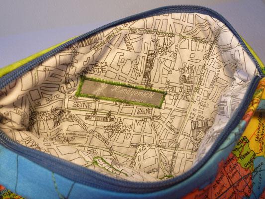 Tasche für Navigerät und Zubehör von innen