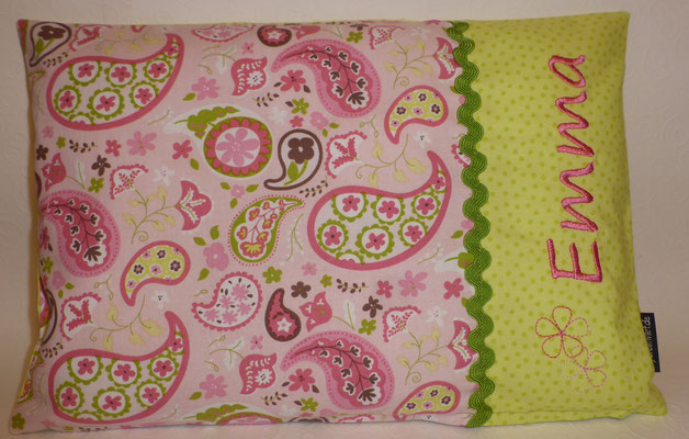 Paisley rosa-grün in 23x33 cm