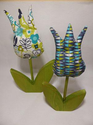 Diese Tulpen präsentieren sich...