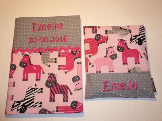 """U-Heft-Hülle, Wärmekissen in """"Zebras pink"""""""