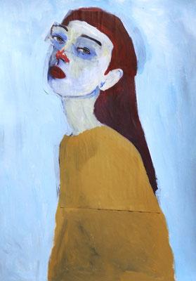 Sans titre, 2016,  technique mixte sur papier, 29,7 x 42 cm