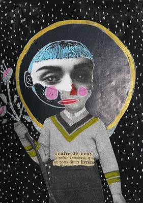 Petit collage 01, 2019, technique mixte, 10,5 x 15 cm.