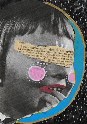 Petit collage 02, 2019, technique mixte, 10,5 x 15 cm