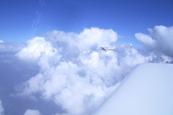 Wanderflug über den Wolken