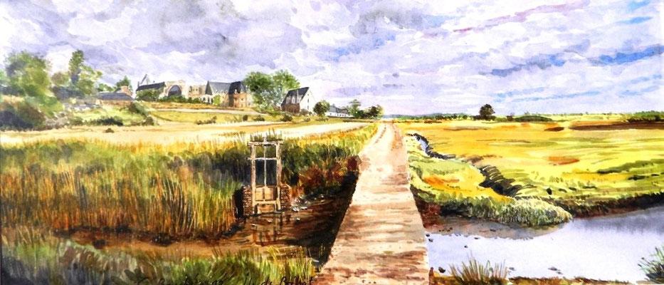 Ile de Bréhat - aquarelle - 50 x 40