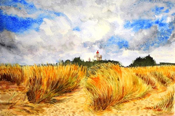 Les hautes herbes - aquarelle - 50 x 40