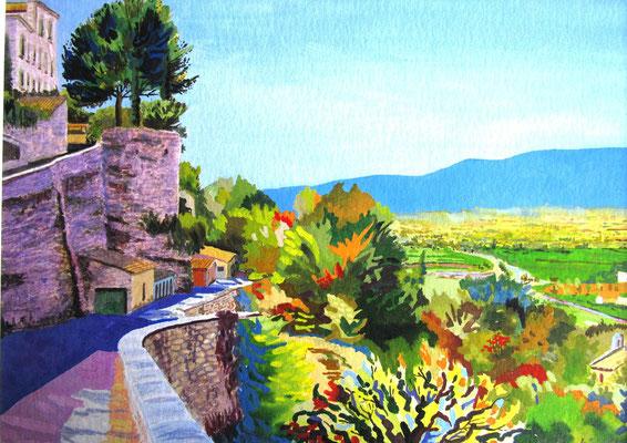 Roussillon - gouache - 50 x 40