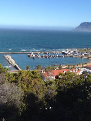 Blick vom Berg auf den Hafen