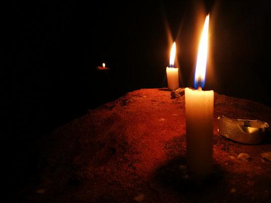 Ein bisschen Atmosphäre mit Kerzen