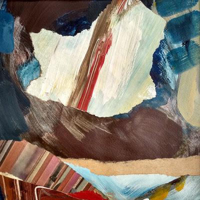 Gouache, Acryl, Zeitungsschnipsel - ca. 23x24 cm