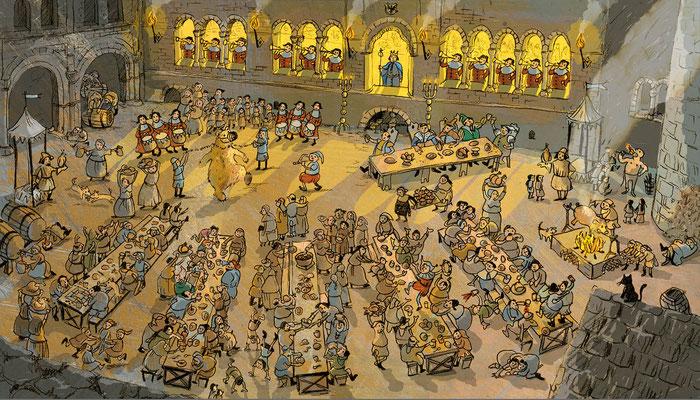 """""""Als sich Barbarossa verliebte und der Kaufmann seinen Schatz verlor"""" , Eine spannende Geschichte über eine Zeitreise ins Mittelalter, für neugierige Kinder ab 6 Jahren, 74 Seiten"""