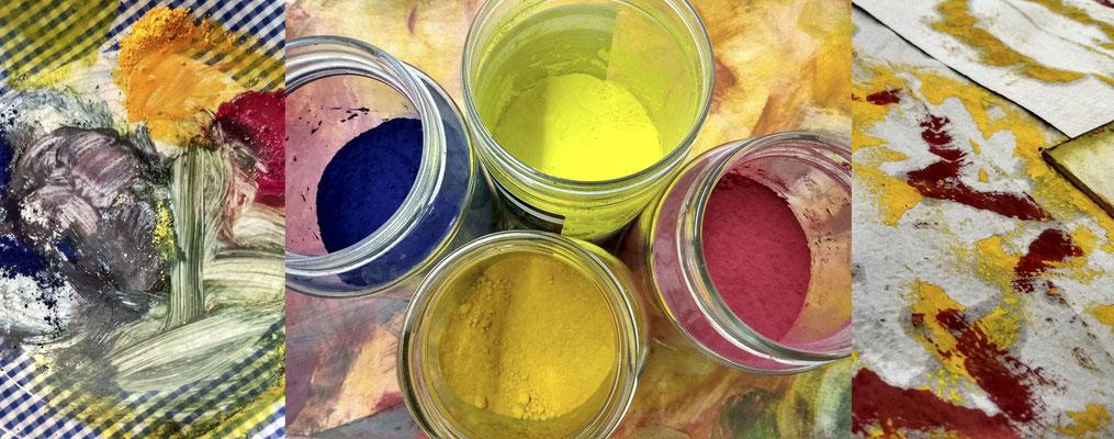 Pigmente und Arbeitsspuren