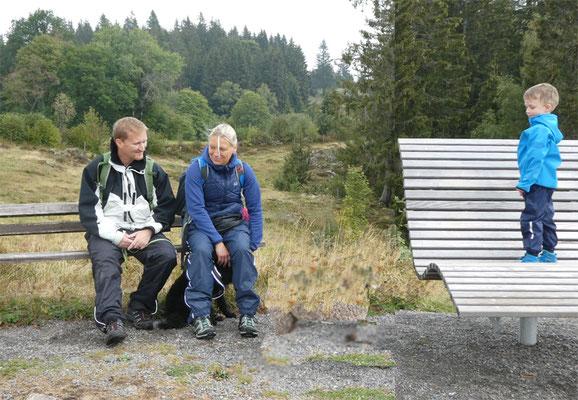 Katja und Yves mit Henry und Rocky