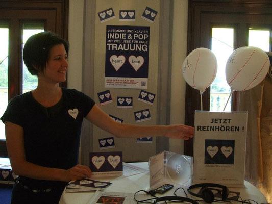 heart beat auf der Hochzeitsmesse Katharina