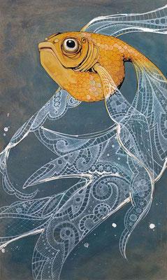 fisch spitze zeichnung