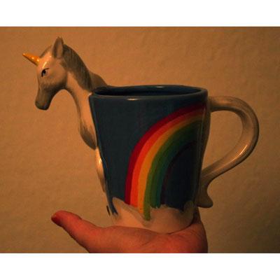 Eine Tasse, aus der ich heute getrunken habe