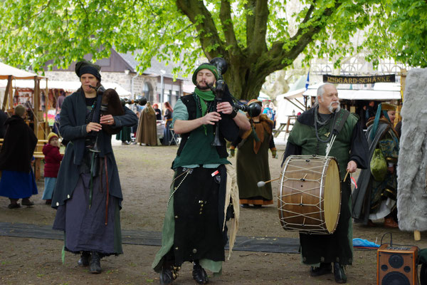 Mittelaltermarkt Musik Dudelsack Trommel